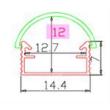 Alusín/alu profil szett átlátszó fedővel, bármilyen led szalaghoz! 1m sín+ takaró+ 2 db rögzítő+ 2 db végzáró.