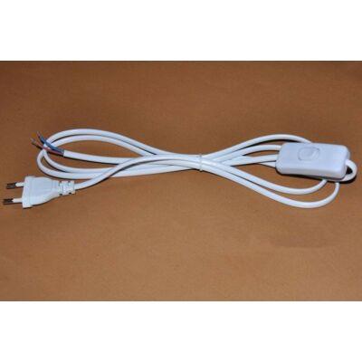 Szerelt vezeték kapcsolóval 2X0,75 fehér 180cm