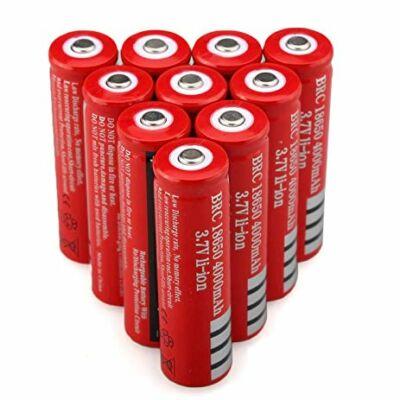 18650 3,7V 4000Ah lítium újratölthető akkumlátor