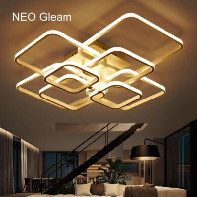 NEO Gleam 100W LED csillár 90x70x15 cm fekete