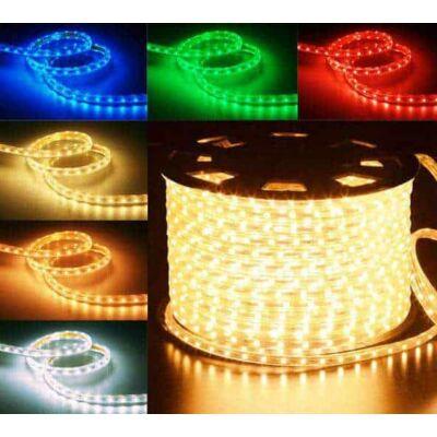 Led fénykábel, szalag 5050SMD RGB 230V 7W /m