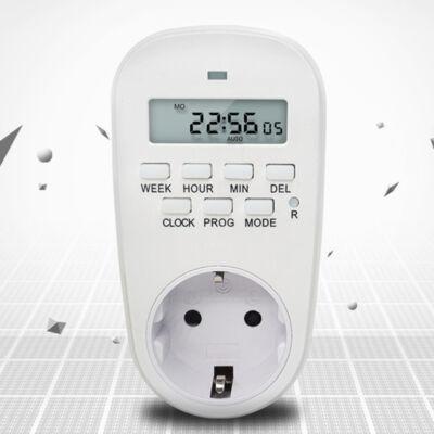 Elektromos digitális 7 napos programozható időzítő kapcsoló