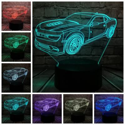 3D HATÁSÚ ÉJSZAKAI TÖBBSZÍNŰ LED LÁMPA Chevrolet Camaro