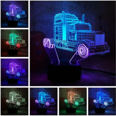 3D HATÁSÚ ÉJSZAKAI TÖBBSZÍNŰ LED LÁMPA Transformers Optimus