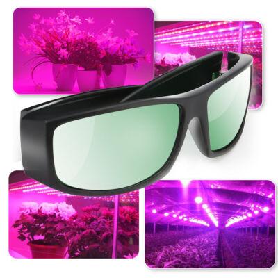 UV polarizált védőszemüveg növekedési lámpákhoz