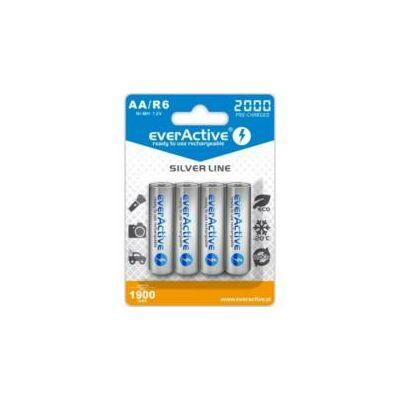 EverActive Akkumulátor ceruza R6 2000mAh Ni-Mh Silver Line 4db/bliszter
