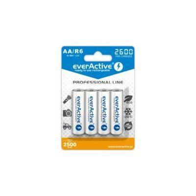 EverActive Akkumulátor ceruza R6 2600mAh Ni-Mh Professional Line 4db/bliszter