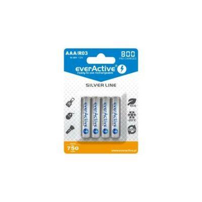 EverActive Akkumulátor mikro/foto R03 800mAh Ni-Mh Silver Line 4db/bliszter