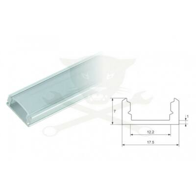 Led Profil tejszerű fedlappal 100 cm.