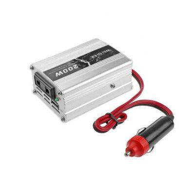 Autós inverter DC 12V AC 220V / USB 5V. 200W