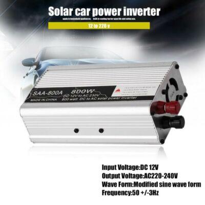 Autós inverter DC 12V AC 220V / USB 5V. 800W