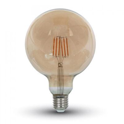 E27 Filament LED lámpa 6 Watt (300°) - Retro G95 meleg fehér