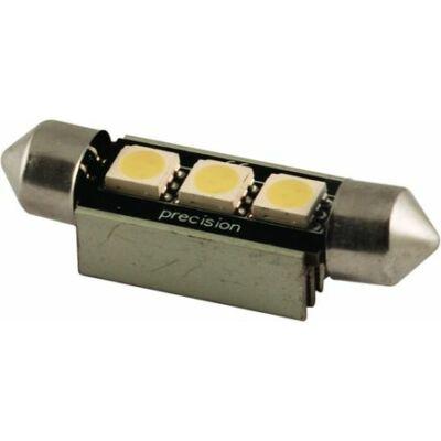 Autós led Sofita Canbus rendszám világítás, 3 led, 39 mm, 100 Lumen, 1,5W, hideg fehér.