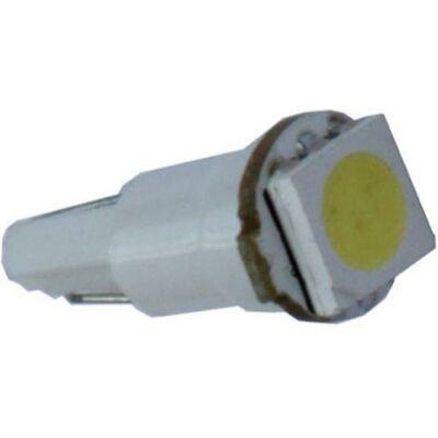 Autós led T5 műszerfal világítás, 1 led, 15 Lumen, 0,4W, hideg fehér.