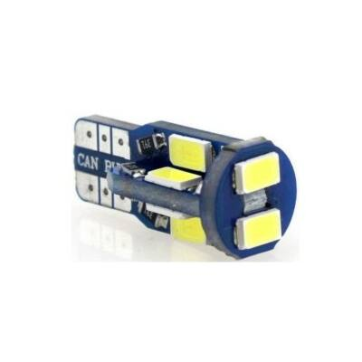 Autós led T10 CANBUS helyzetjelző, index világítás, Samsung chip, 10 led, 150 Lumen, 2,5W, hideg fehér.