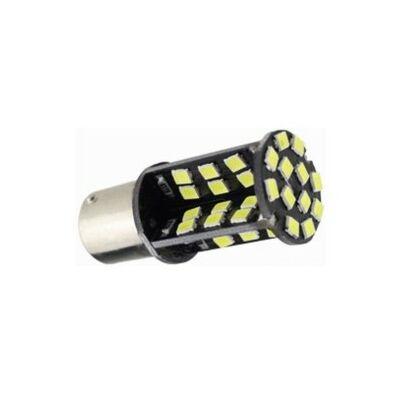 Autós led BA15Y Canbus fék+helyzetjelző lámpa világítás, 60 led, 450 Lumen, 5050 chip, 5W, hideg fehér.