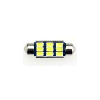 Autós led Sofita Canbus rendszám világítás, 9 led, 39 mm, 200 Lumen, 5730 chip, 2,5W, hideg fehér.