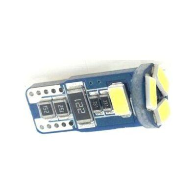Autós led T10 CANBUS helyzetjelző, index világítás, Samsung chip, 5 led, 100 Lumen, 1,5W, hideg fehér.