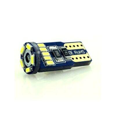 Autós led T10 Canbus helyzetjelző, index világítás, Samsung chip, 15 led, 60 Lumen, 1W, sárga.