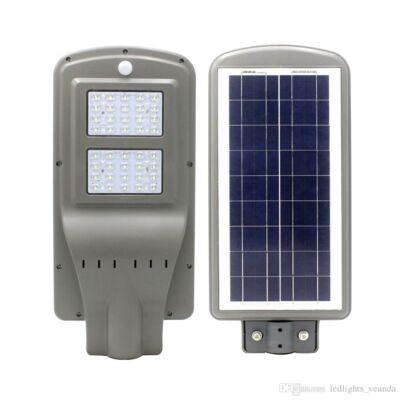 Napelemes, solar utcai, közvilágítási lámpa 40W