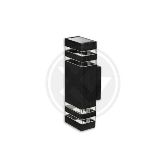 Homlokzati lámpatest GU10 Inez fekete Duo