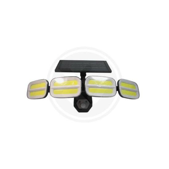 Szolár LED fényszóró IP65 4xCOB PIR távirányító