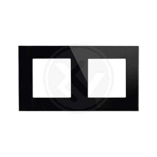 Üvegkeret dupla fekete