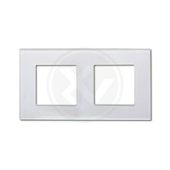 Üvegkeret dupla fehér