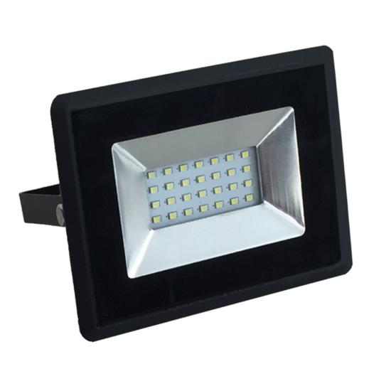 20W LED REFLEKTOR  FEKETE 6400K