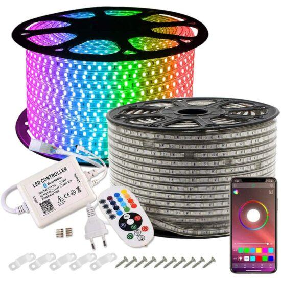 Led fénykábel, szalag 5050SMD RGB 230V  50 méter