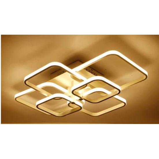 LED csillár 80W 70x58 cm Kávé