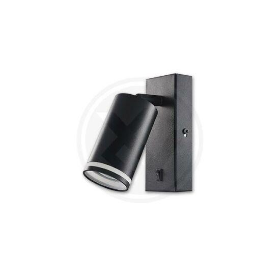 Fali lámpa GU10 gyűrű olvasásához 55 mm fekete