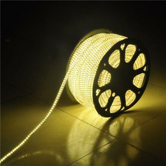 Led fénykábel, szalag meleg fehér 230V 7W /m