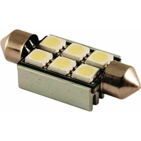 Autós led Sofita rendszám világítás, 6 led, 36 mm, 100 Lumen, 5050 chip, 1,5W, hideg fehér.