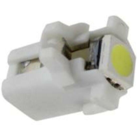 Autós led B8.3 műszerfal világítás, 1 led, 15 Lumen, 0,4W, hideg fehér.