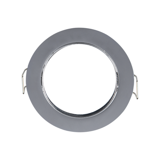 Round downlight SATIN NICKEL, Iron 80x80