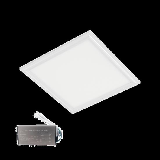 LED PANEL 24W 4000-4300K 295X295mm FEHÉR KERET IP44+INVERTERREL