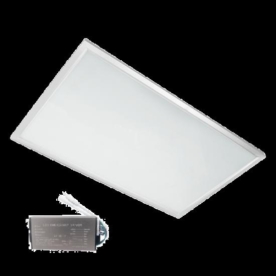 LED PANEL 36W 4000K-4300K 595mm/295mm WHITE FRAME EM. EM.BLOCK
