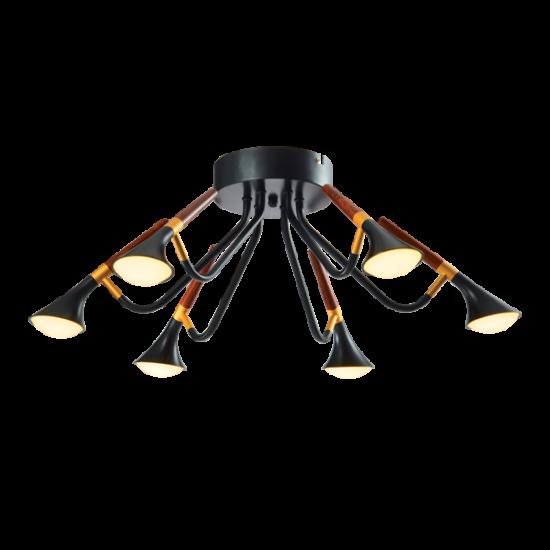 DUNCAN LED CHANDELIER 30W 3000K MATTE BLACK/WOOD