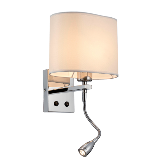 MAYA WALL LAMP 1XE27 +1WLED 4000K CHROME