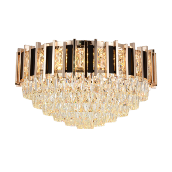 VICTORIA CEILING LAMP 13xE14 GOLD/BLACK