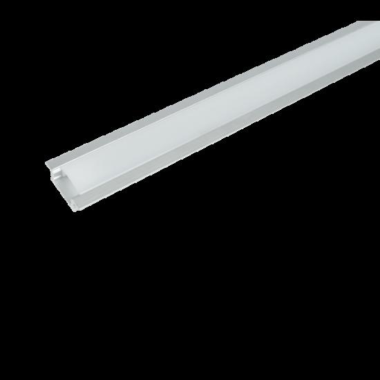 ELM718/2 ALUMINIUM PROFIL LED SZALAGHOZ, MATT TAKARÓPROFIL, FELÜLETRE SZERELHETŐ 1 M