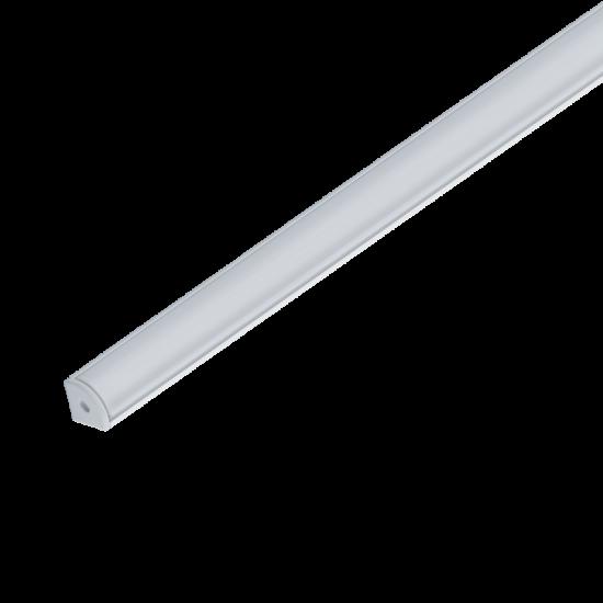 ELM9012/2 ALUMINIUM PROFIL LED SZALAGHOZ, MATT TAKARÓPROFIL, FELÜLETRE SZERELHETŐ 2M