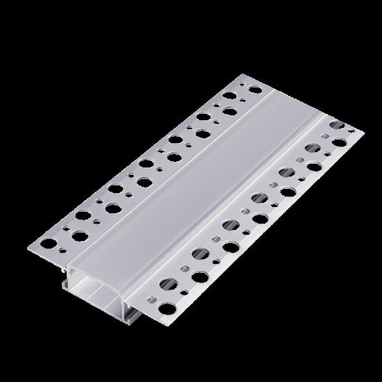 ALUMINUM LED PROFILE DP65 RECESSED MOUNTING