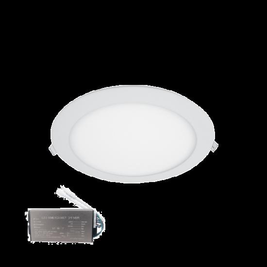 LED PANEL KÖR 12W 6400К IP44+INVERTERREL