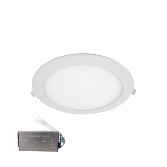 LED PANEL KÖR 18W 6400К IP44+INVERTERREL