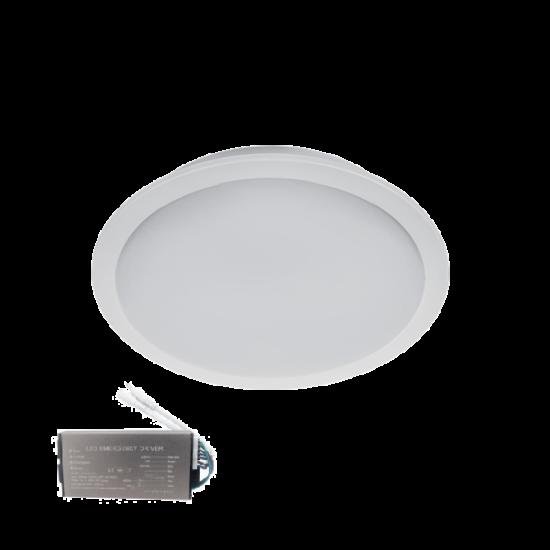 LED PANEL KÖR 18W 6500К D225 IP65+INVERTERREL