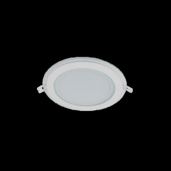 LED PANEL ÜVEG, KEREK 18W 4000K-4300K FEHÉR Ф200MM
