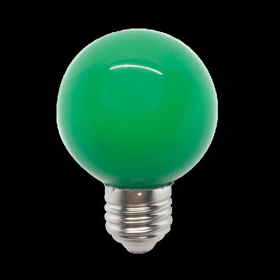 LED GLOBE G45 3W E27 GREEN