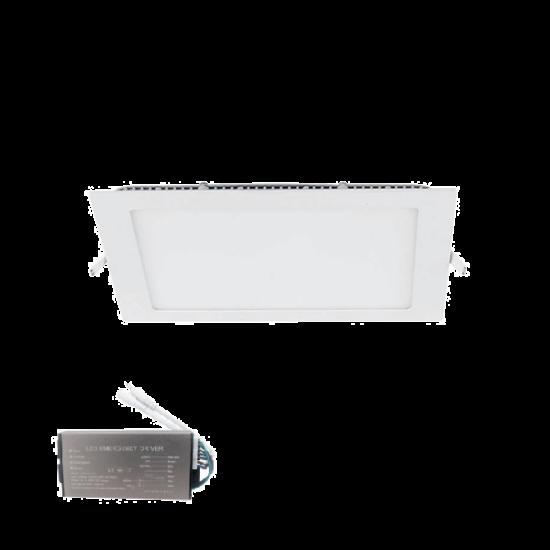 LED PANEL SZÖGLETES 12W 6400K 155/155MM+INVERTERREL